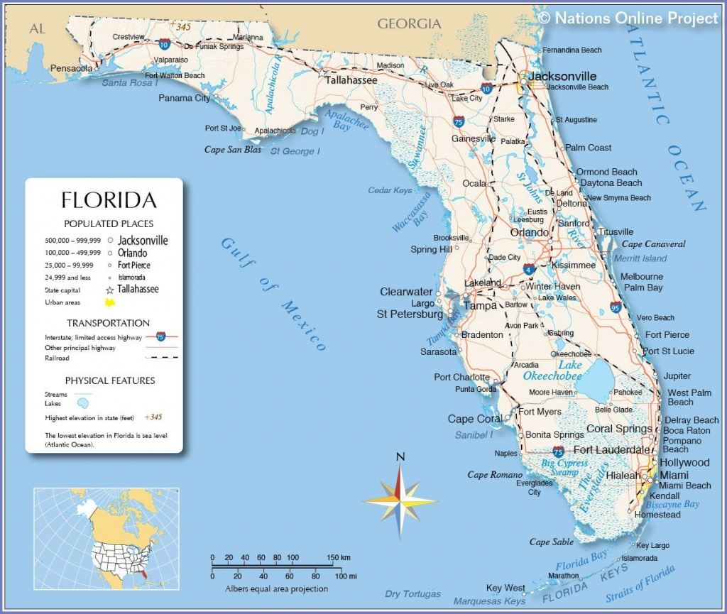 Florida - Miami, Fort Lauderdale, Hollywood, Islamorada, Orlando - Coral Beach Florida Map