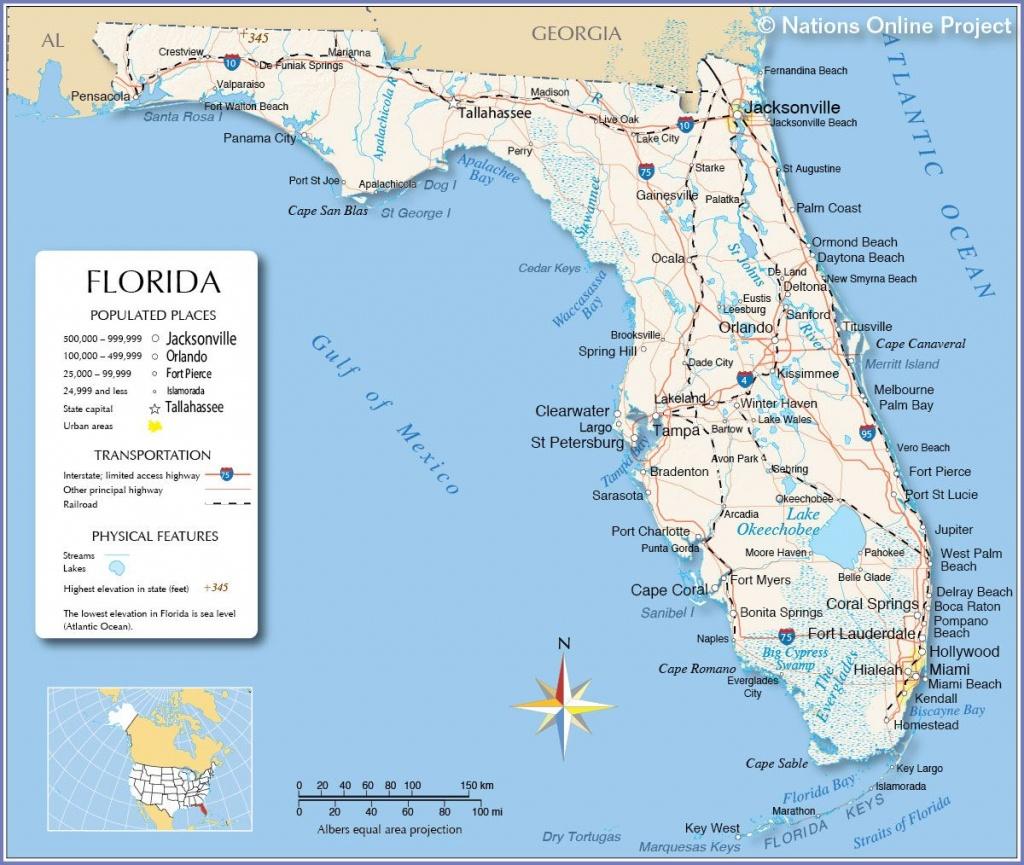 Florida - Miami, Fort Lauderdale, Hollywood, Islamorada, Orlando - Hollywood Beach Florida Map