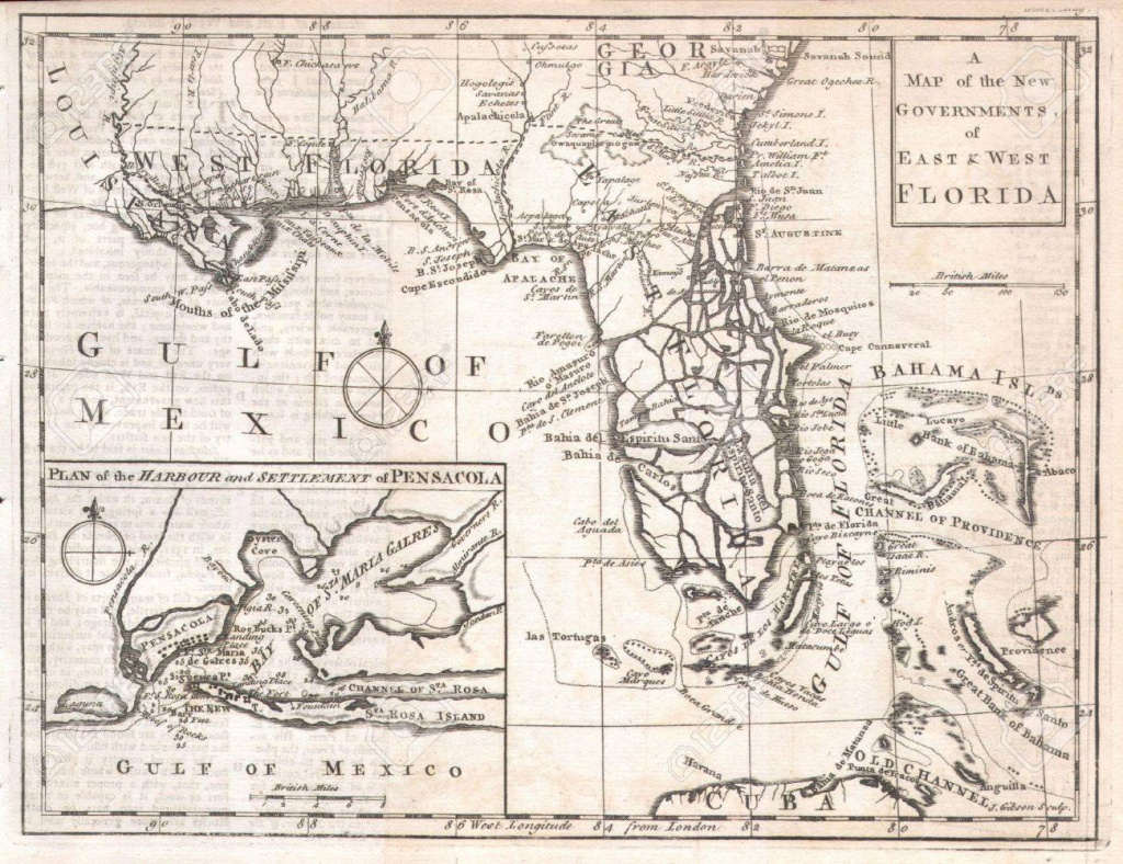 Florida Old Map Stock Photo, Picture And Royalty Free Image. Image - Florida Old Map