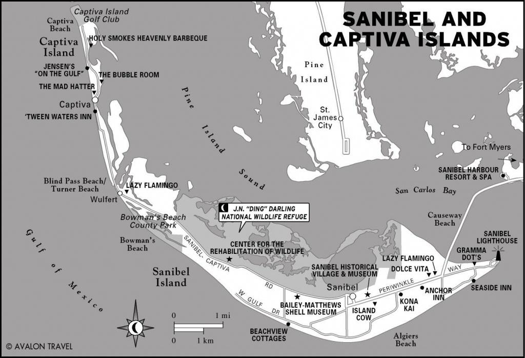 Florida | Oliver Style | Captiva Island, Sanibel Island, Island - Florida Gulf Islands Map