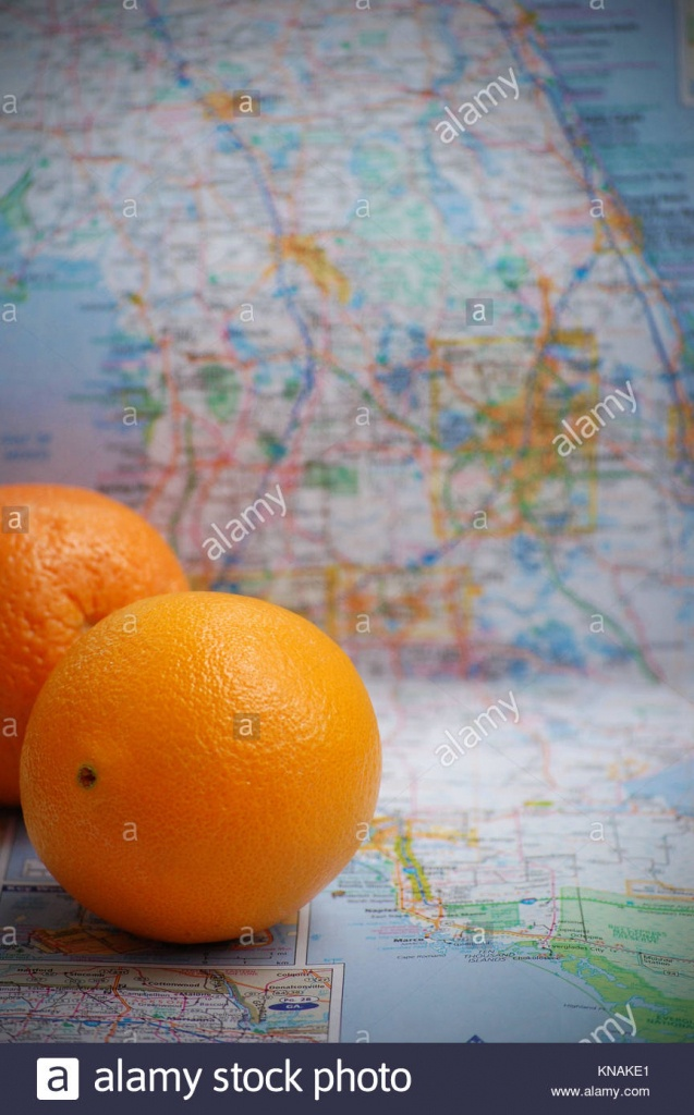Florida Oranges Stock Photos & Florida Oranges Stock Images - Alamy - Where Are Oranges Grown In Florida Map