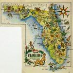 Florida   Original Art, Antique Maps & Prints   Map Of Florida Art