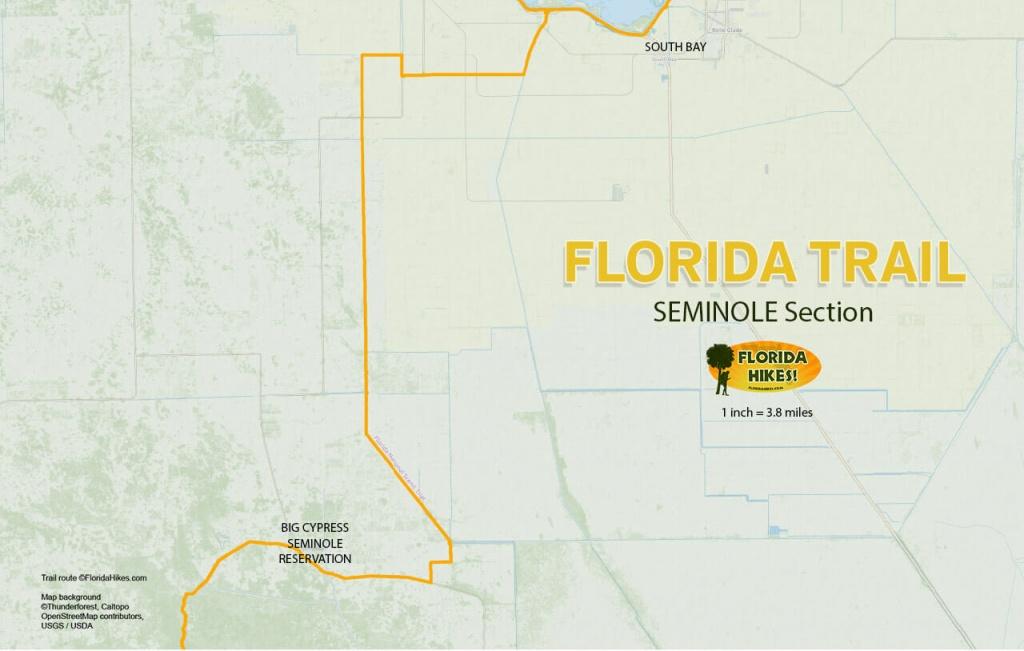Florida Outdoor Recreation Maps   Florida Hikes! - Florida Section Map