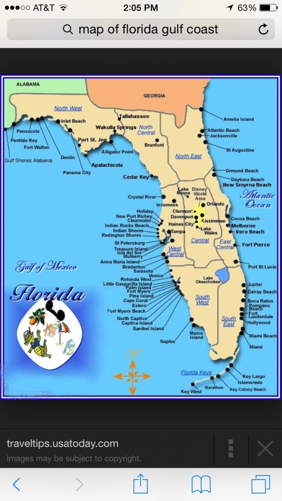 Florida | Places I Want To Visit | Map Of Florida Gulf, Florida Gulf - Map Of Florida Coast Beaches