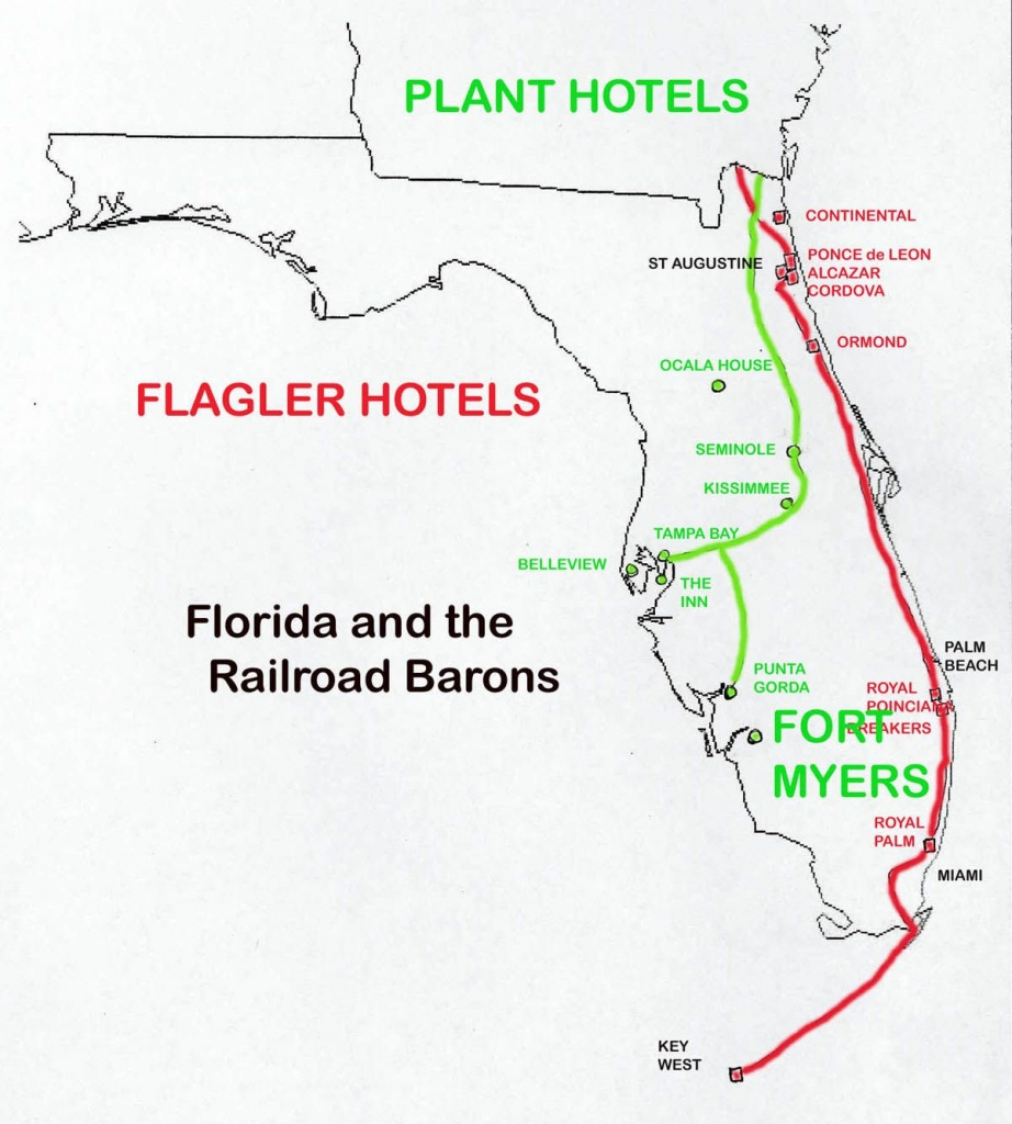 Florida Railroads In 1880-1900: | Railway Maps | Railroad Pictures - Florida Railroad Map