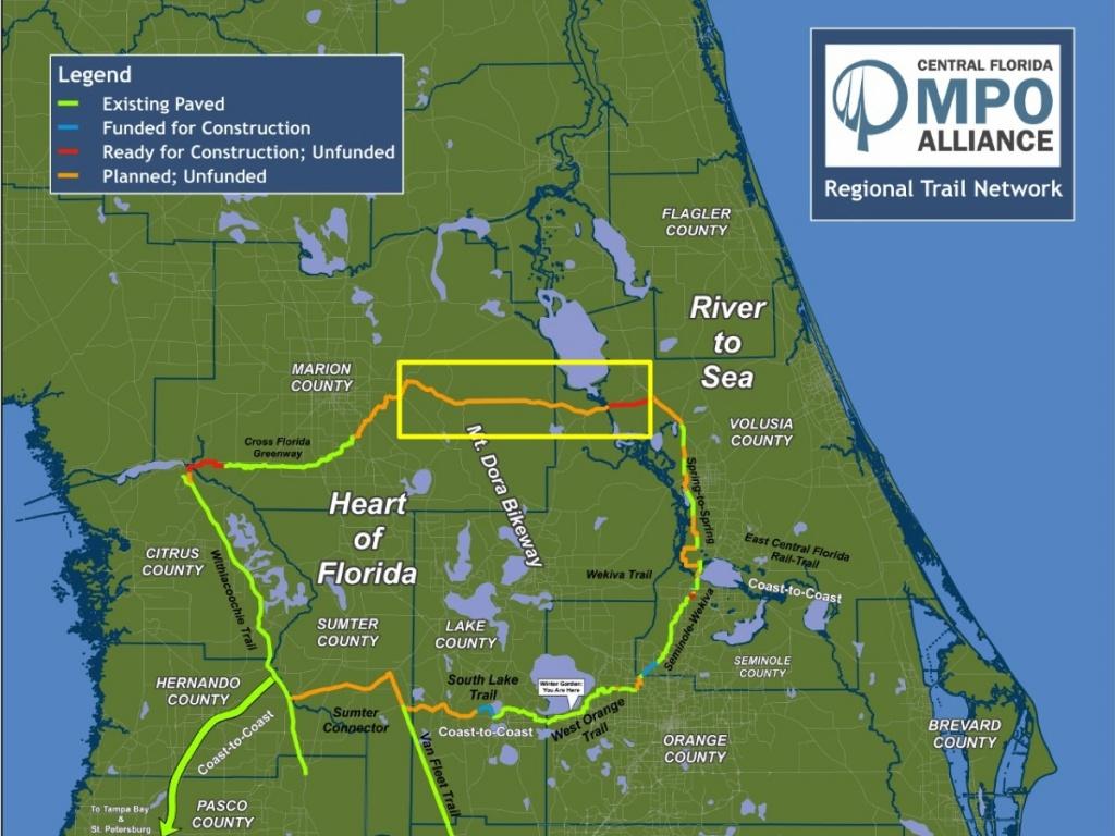 Florida Rails To Trails Map - Florida Rails To Trails Maps
