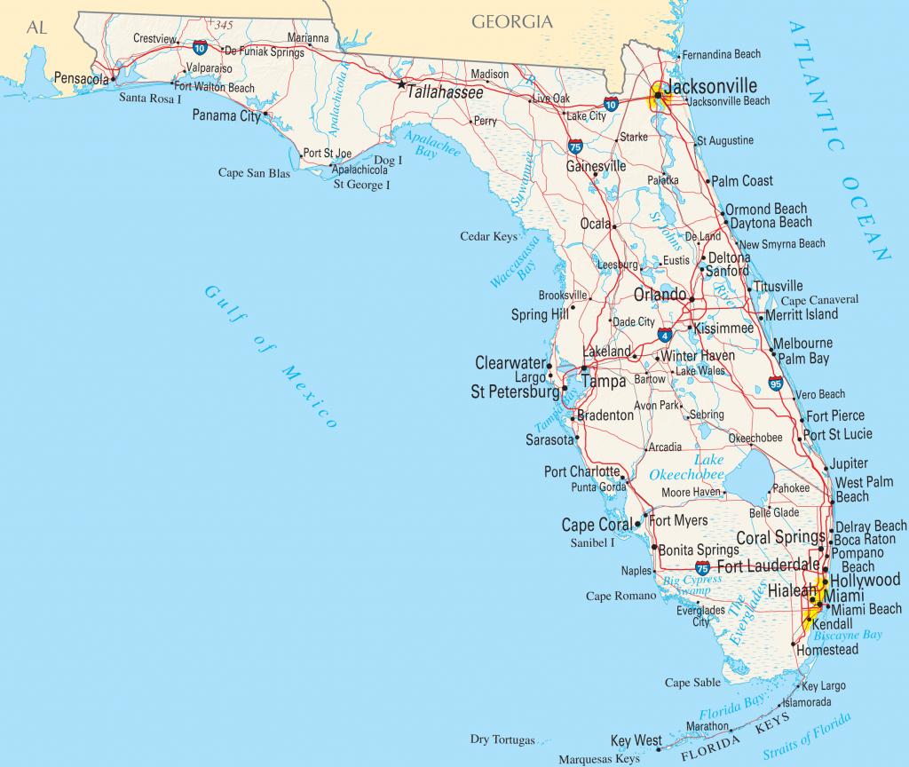 Florida Reference Map • Mapsof - St George Island Florida Map