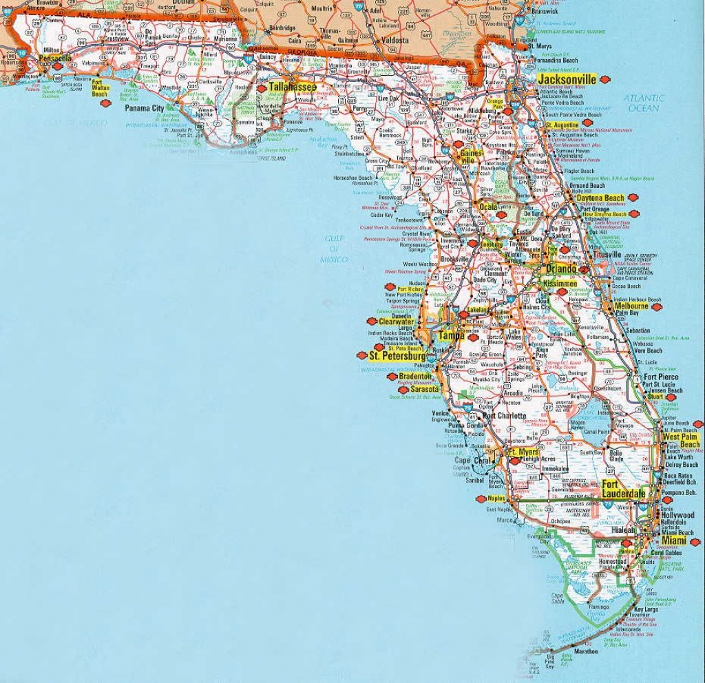 Florida Road Map   Vacation   Florida Road Map, Florida Vacation, Map - Florida Vacation Map