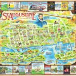 Florida St. Augustine Map Postcard | America's Oldest And Mo… | Flickr   St Augustine Florida Map