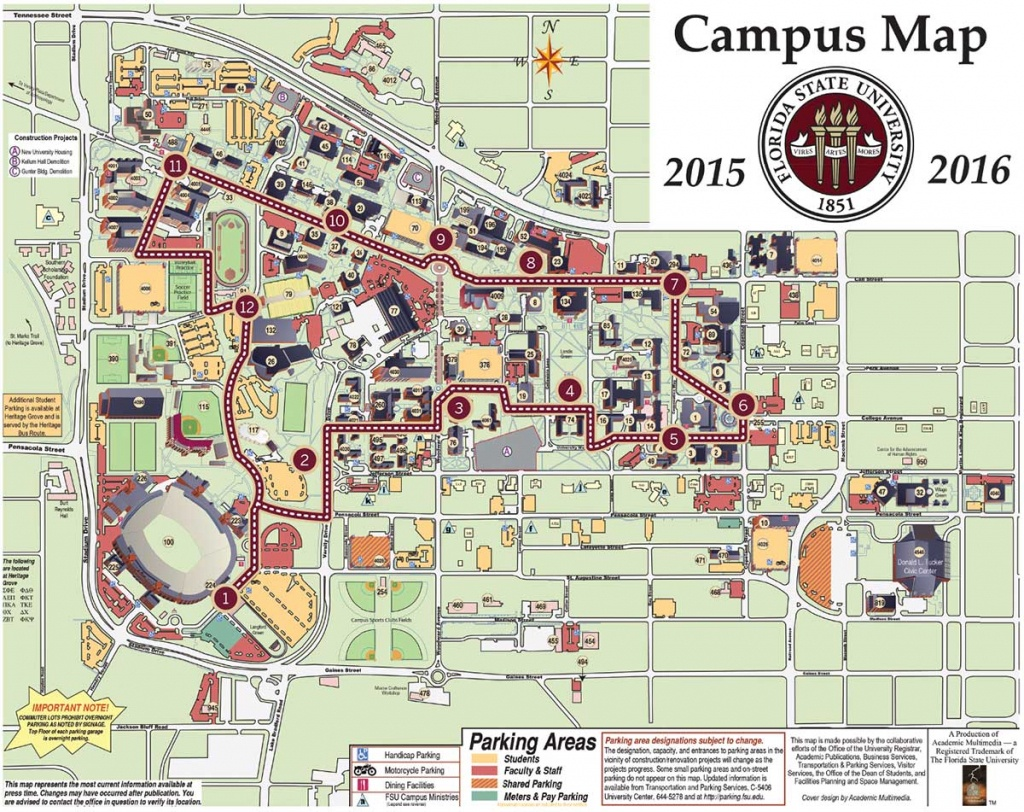 Florida State Campus Map   Woestenhoeve - Florida State University Map