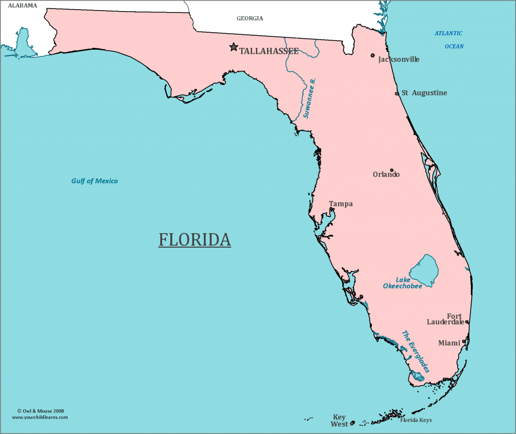 Florida State Map - Map Of Florida And Information About The State - Florida St Map