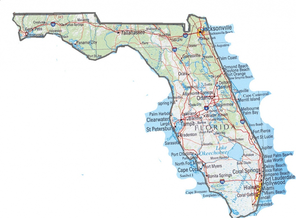 Florida State Map. Map Of Florida State   Vidiani   Maps Of All - Florida St Map