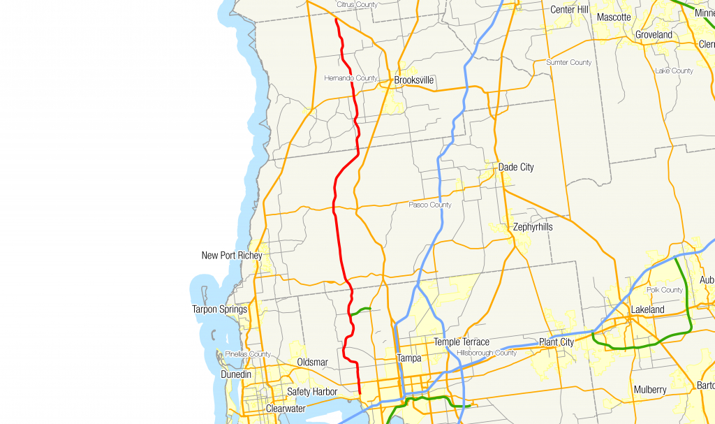 Florida State Road 589 - Wikipedia - Lutz Florida Map