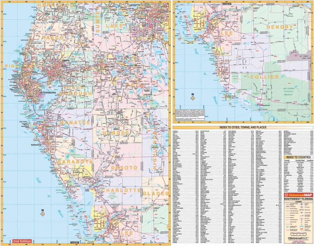 Florida State Southwest Regional Wall Map – Kappa Map Group - Map Of Southwest Florida