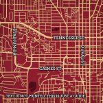 Florida State University Campus Map Art - City Prints - Florida State University Map