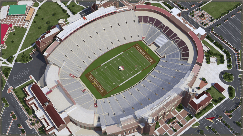 Florida State University Football - University Of Florida Football Stadium Map