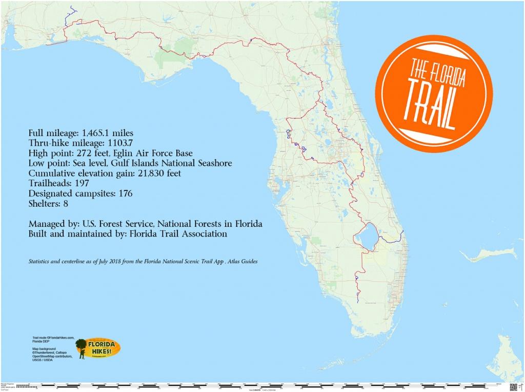 Florida Trail | Florida Hikes! - Starke Florida Map