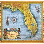 Florida Treasure Map   Historic Print & Map Company - Old Florida Maps Prints