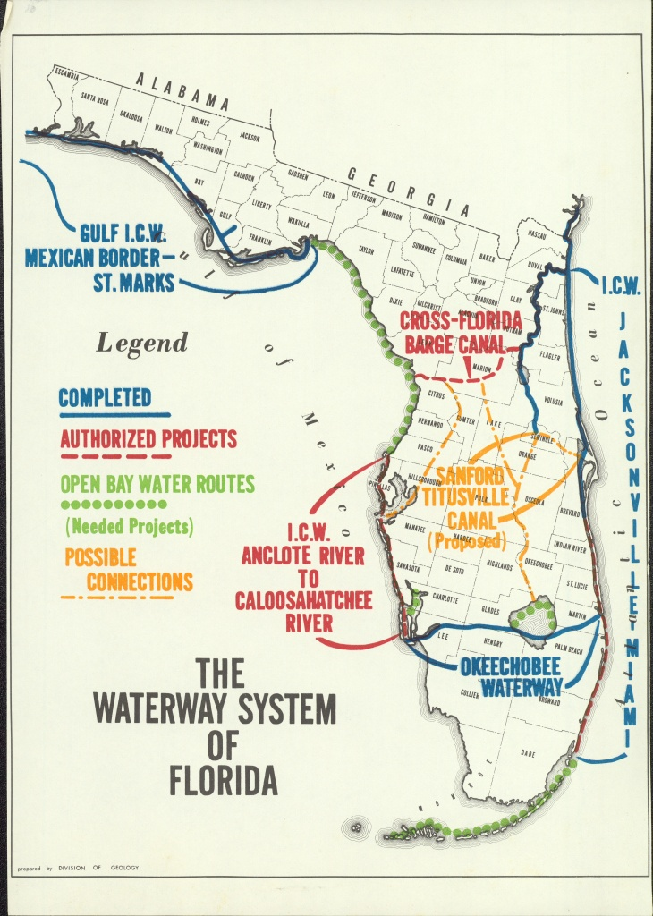 Florida Waterways Map | Florida Map 2018 - Florida Waterways Map