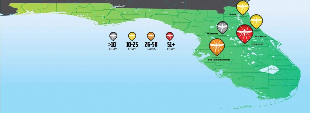 Florida Zika Virus Outbreak Tracking Map - Turner Pest Control - Zika Florida Map
