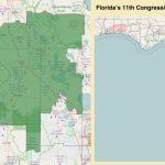 Florida's 11Th Congressional District - Wikipedia - Lecanto Florida Map