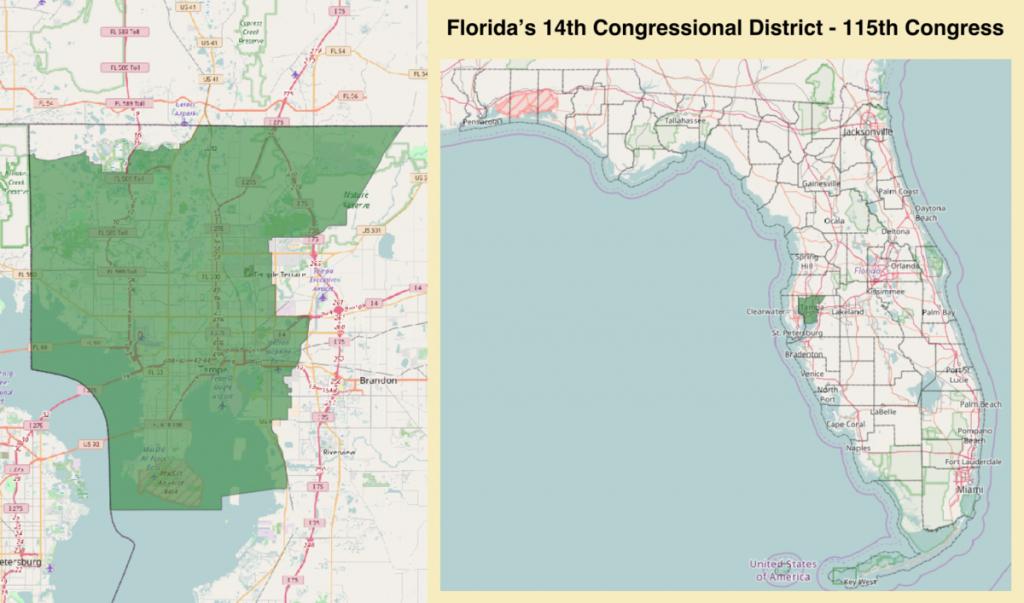 Florida's 14Th Congressional District - Wikipedia - Florida's Congressional District Map