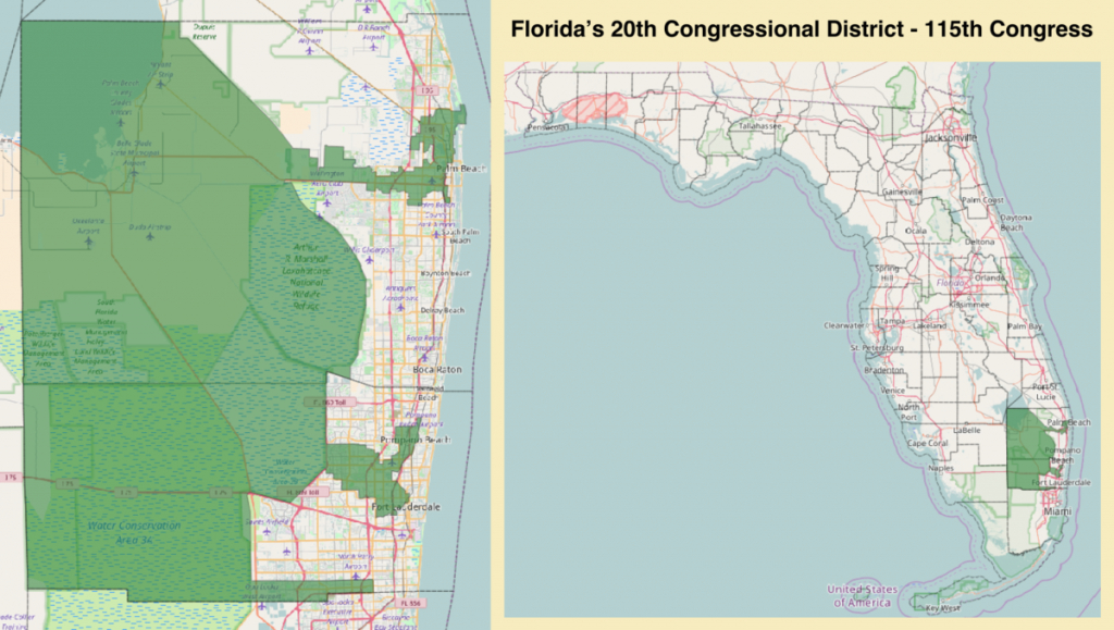 Florida's 20Th Congressional District - Wikipedia - District 27 Florida Map