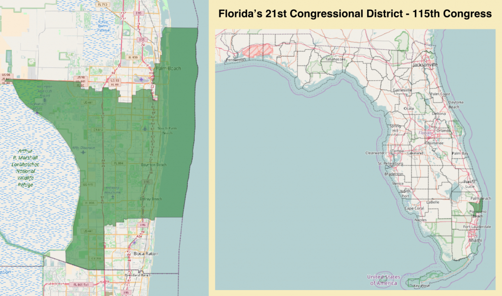 Florida's 21St Congressional District - Wikipedia - Florida House District 64 Map