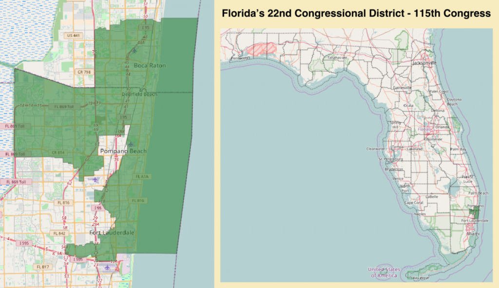 Florida's 22Nd Congressional District - Wikipedia - Florida District 6 Map
