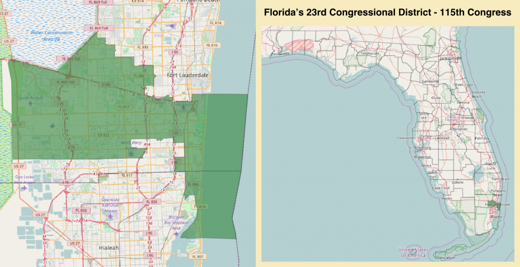Florida's 23Rd Congressional District - Wikipedia - Florida House District 115 Map