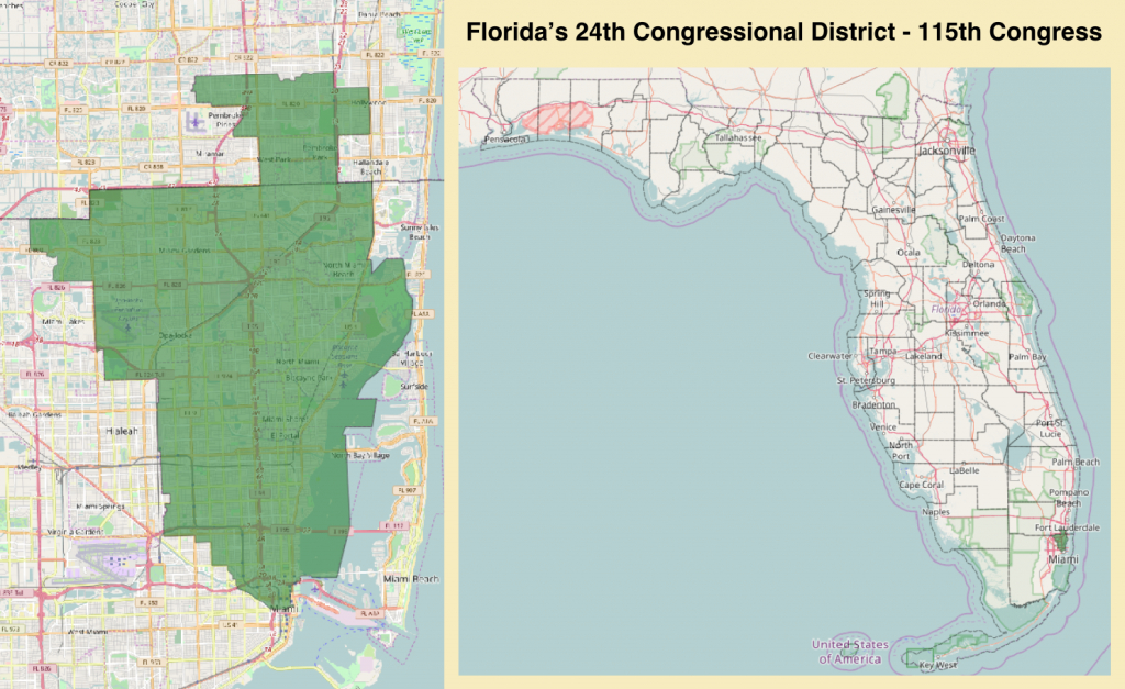 Florida's 24Th Congressional District - Wikipedia - District 27 Florida Map