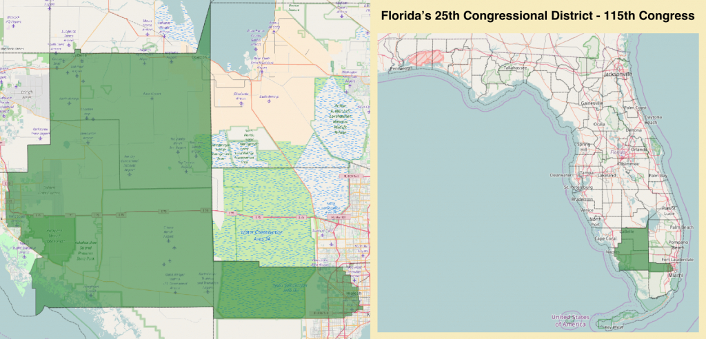 Florida's 25Th Congressional District - Wikipedia - Florida House District 115 Map