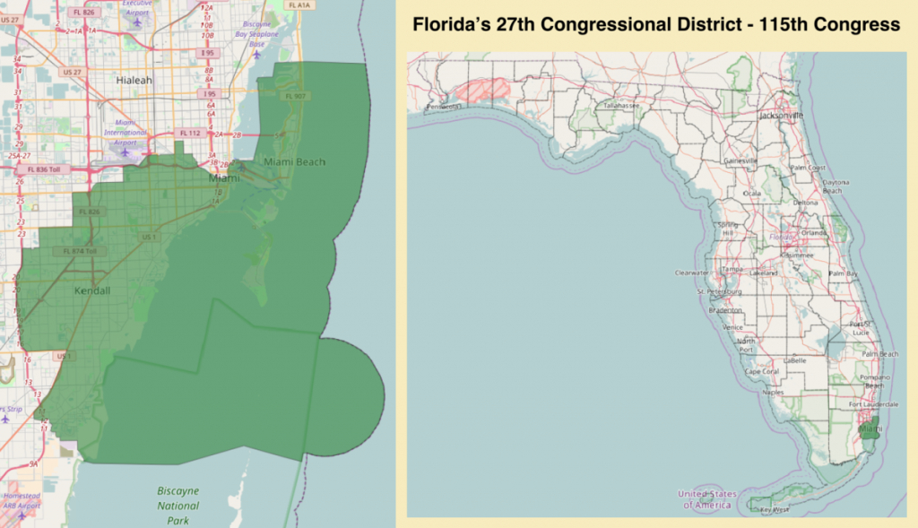 Florida's 27Th Congressional District - Wikipedia - District 27 Florida Map