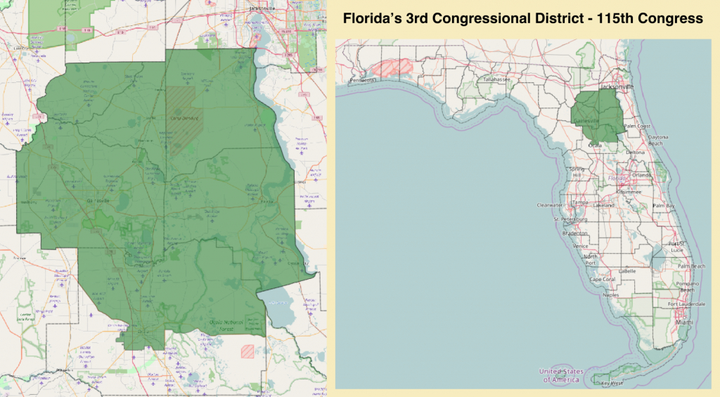 Florida's 3Rd Congressional District - Wikipedia - Florida Voting Districts Map