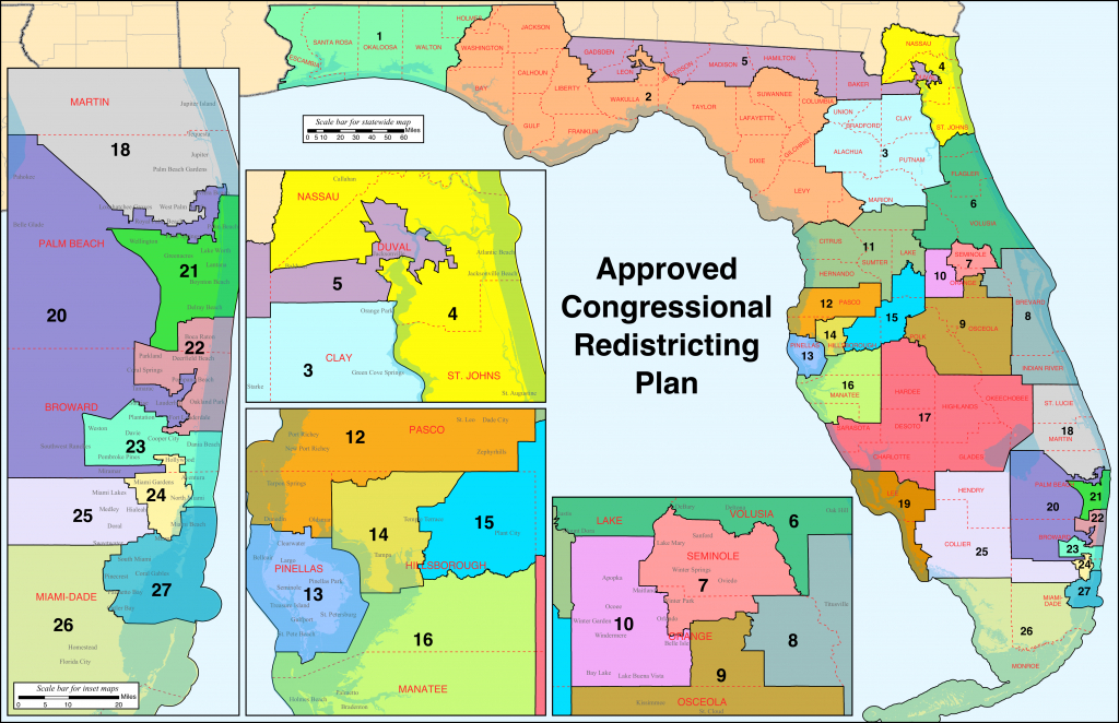 Florida's Congressional Districts - Wikipedia - Map Of Panama City Florida And Surrounding Towns