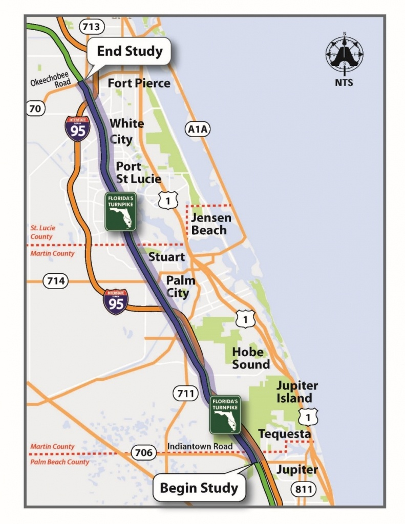 Florida's Turnpike - The Less Stressway - Florida Map With Port St Lucie