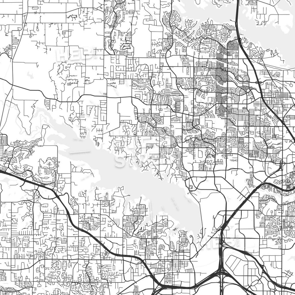 Flower Mound, Texas - Area Map - Light | Hebstreits Sketches - Flower Mound Texas Map