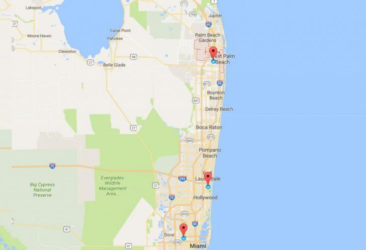 Florida Airports Map