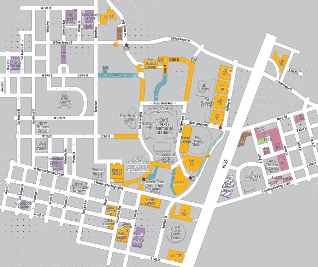 Football Parking 2018   Parking & Transportation   The University Of - University Of Texas Football Stadium Map