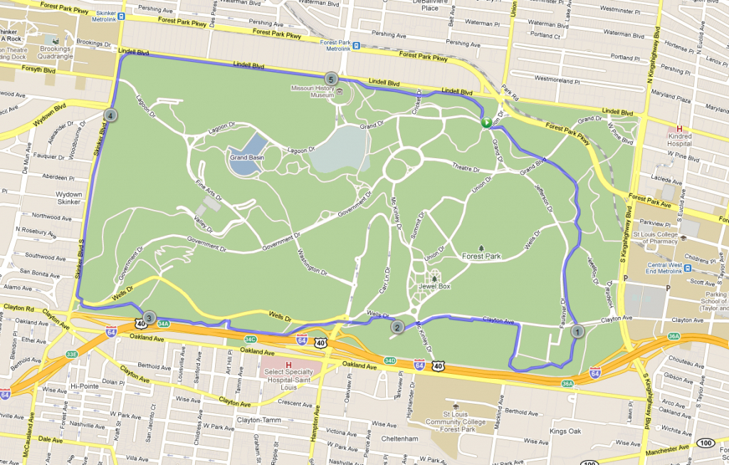 Forest Park St Louis Map And Travel Information   Download Free - Forest Park St Louis Map Printable