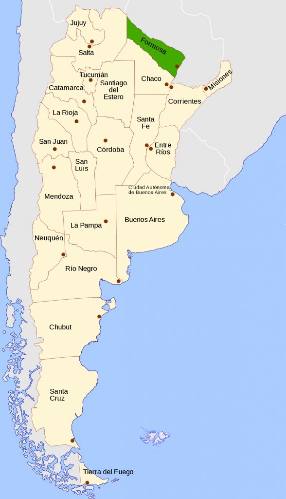 Formosa Province - Wikipedia - Printable Map Of Argentina