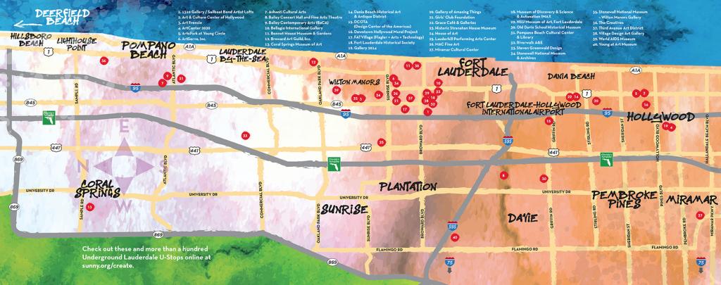 Fort Lauderdale Art Walks & Venues | Underground Lauderdale - Street Map Of Fort Lauderdale Florida