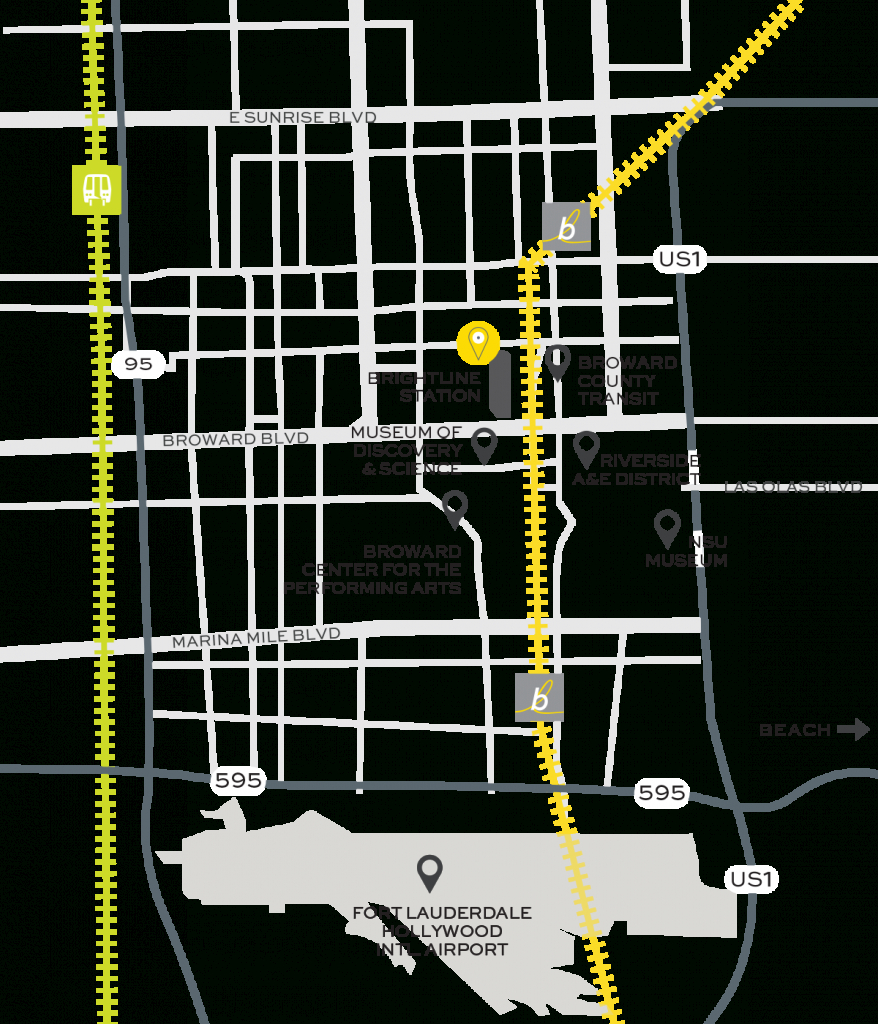 Fort Lauderdale Train Station   Brightline - Brightline Florida Map