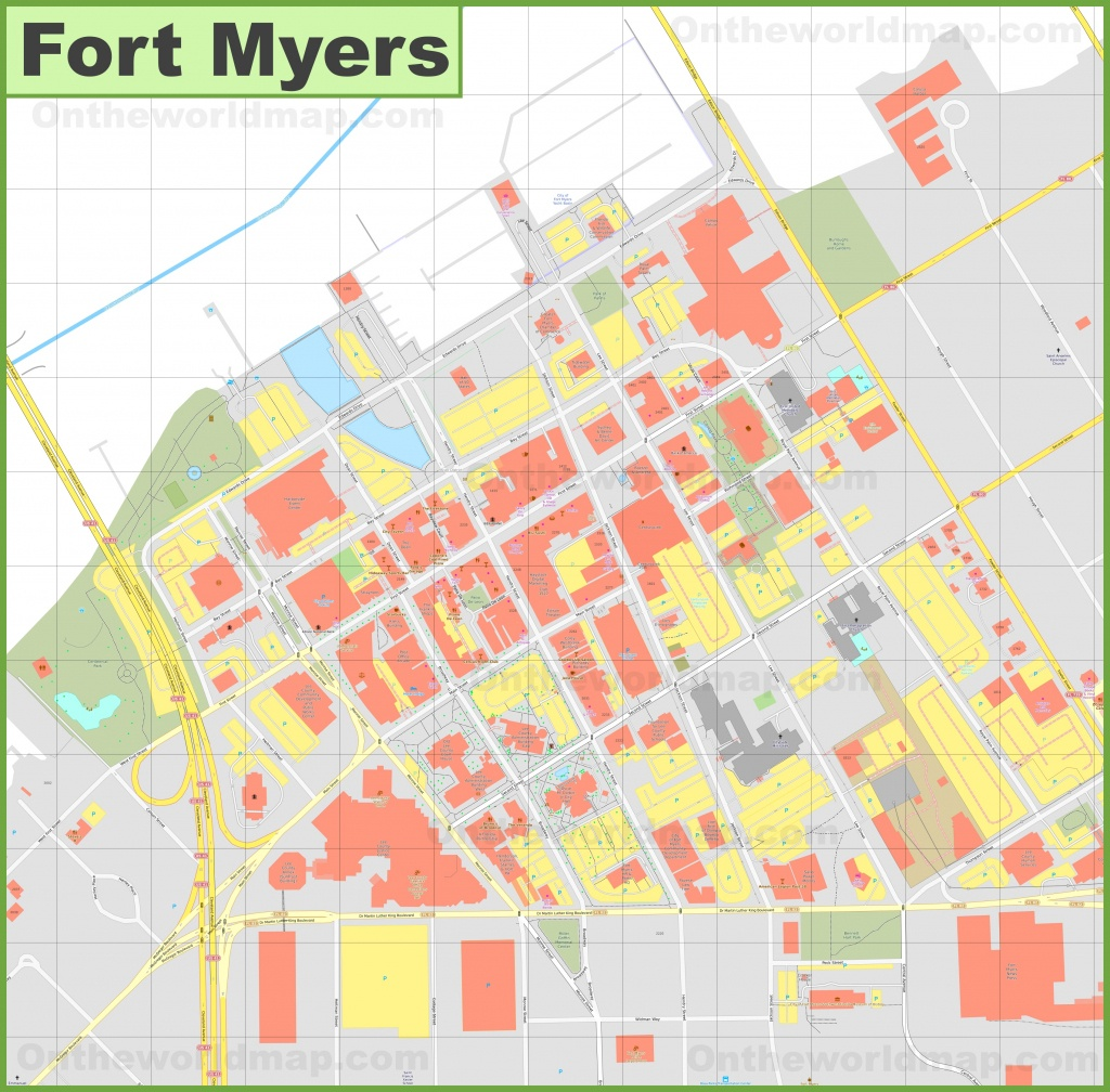 Fort Myers Downtown River District Map - Map Of Fort Myers Florida Area