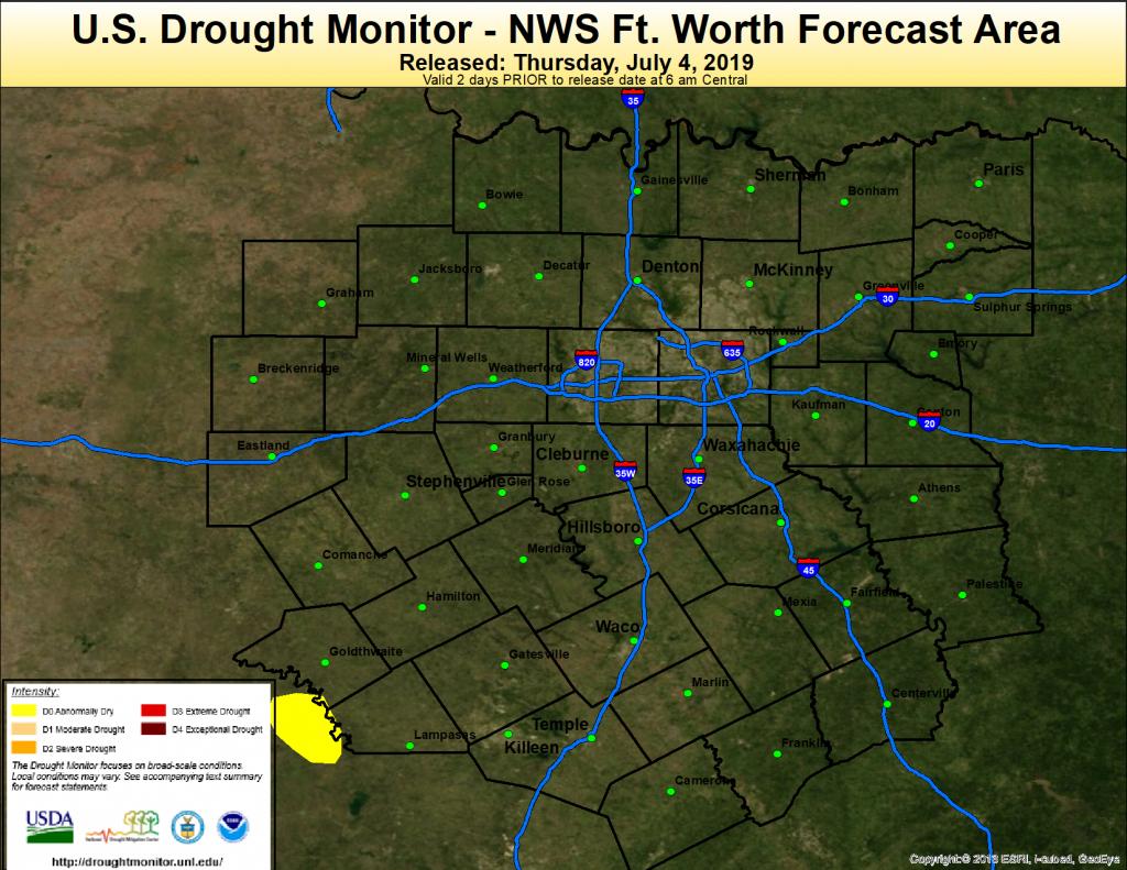 Fort Worth/dallas, Tx - Waco Texas Weather Map