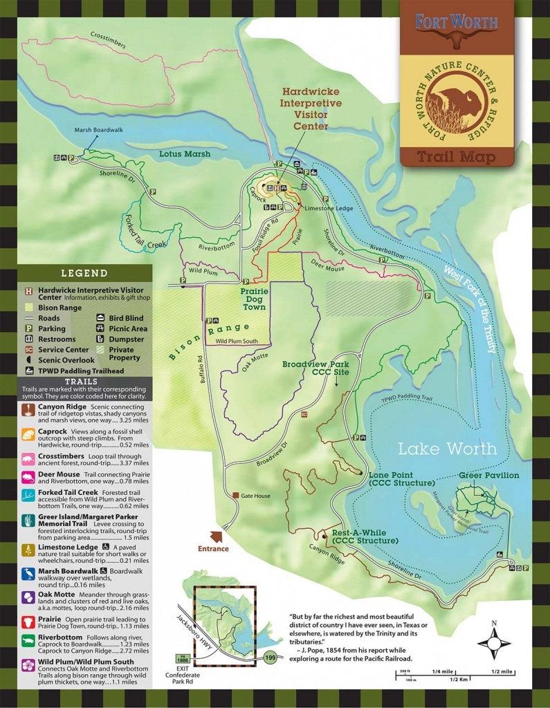 Fort Worth Nature Center & Refuge | Trails | Texas In 2019 | Fort - Texas Forts Trail Map