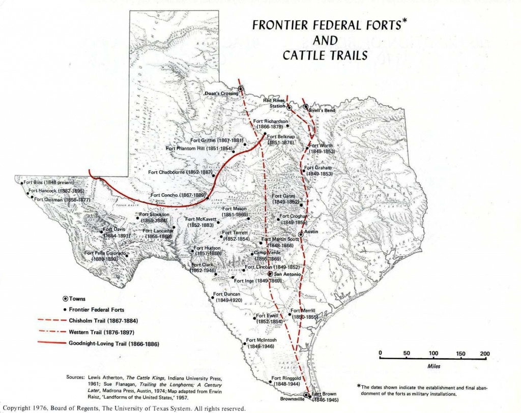 Forts And Cattle Trails | All Things Texas In 2019 | Texas, Texas - Texas Forts Trail Map