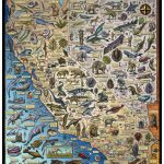 Fossil Map Of California & Nevada   Troll Art   Map Of California And Nevada