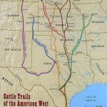 Found This 1870 Map Of The Cattle Trails Of The West | Cowboys Have - Texas Cattle Trails Map