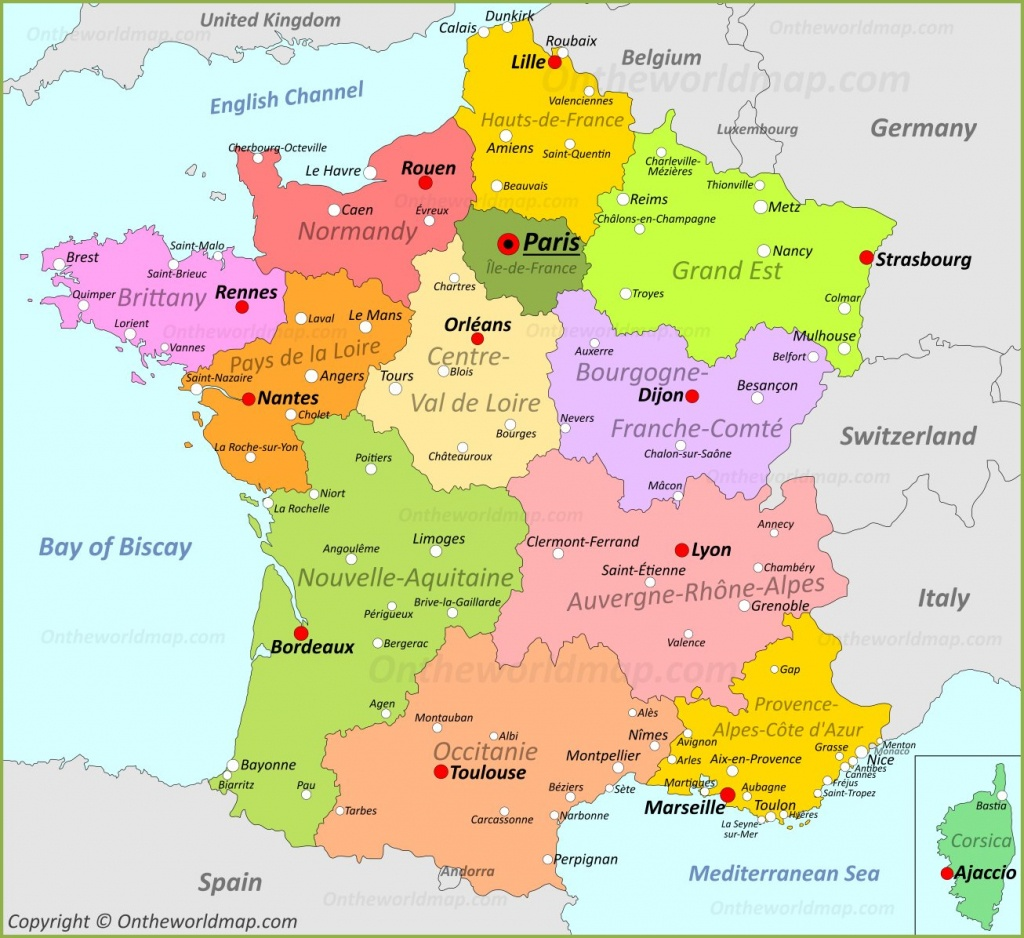 France Maps   Maps Of France - Printable Map Of France Regions
